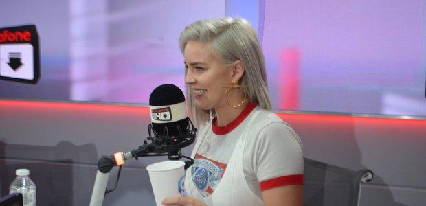 Anne Marie in the Big Top 40 studio